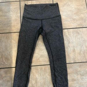 Lululemon high rise leggings, EUC, 6